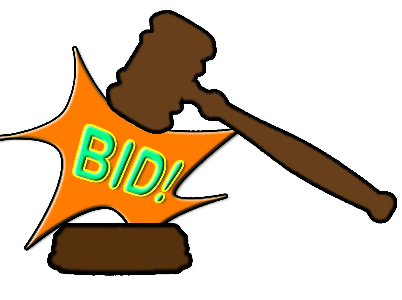 Bid hammer graphic