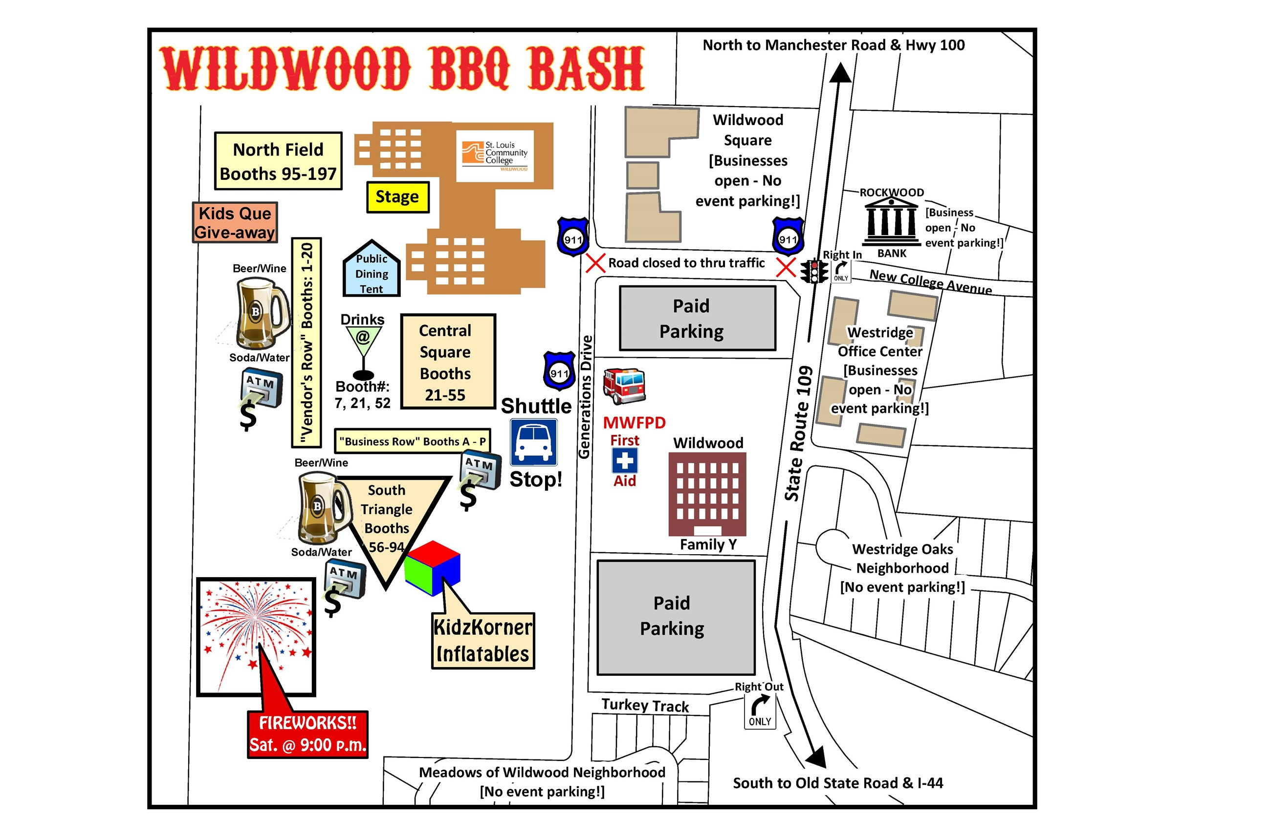 2018 BBQ Bash Map of Event Grounds & Parking