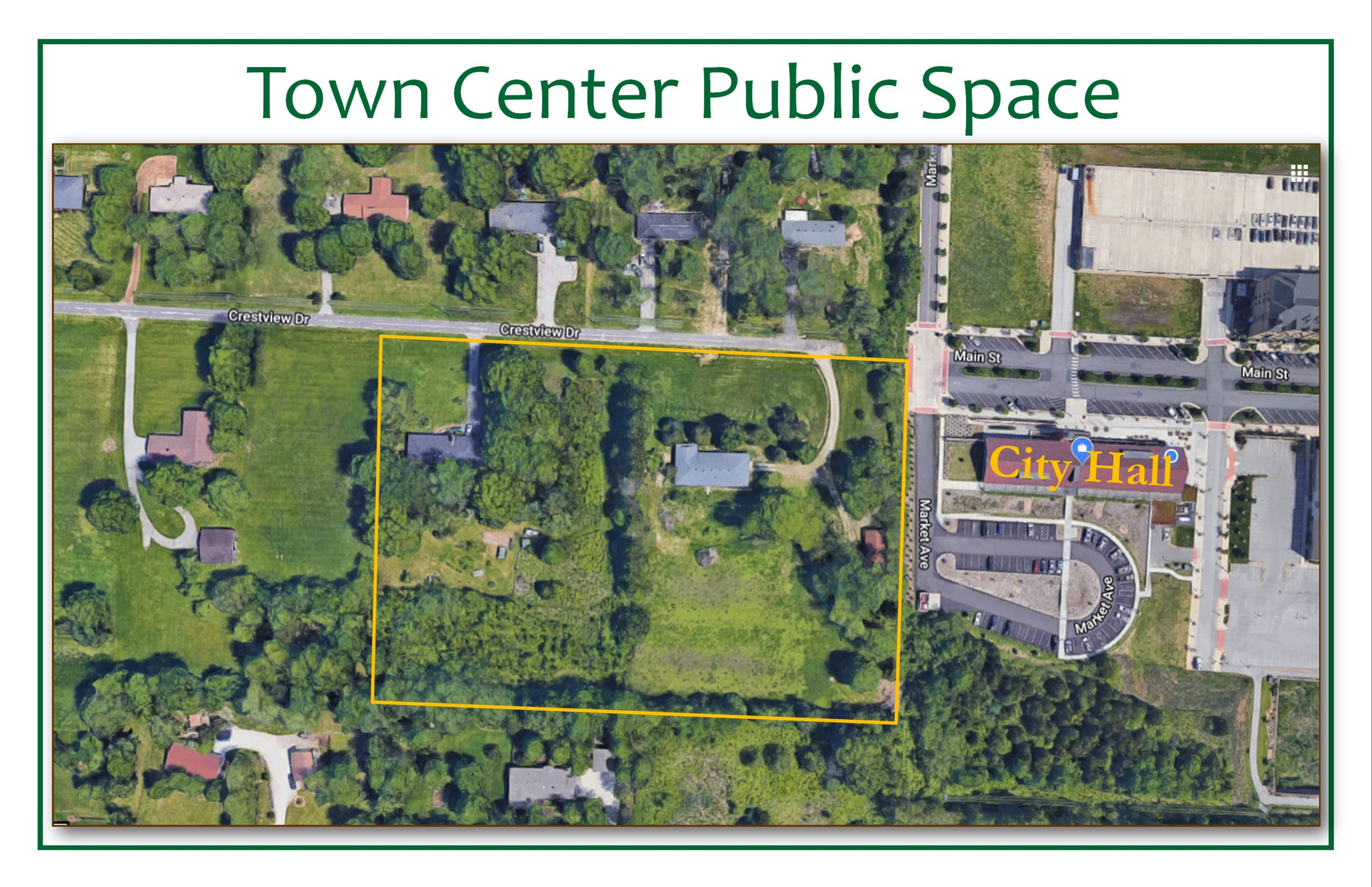 Aerial of Town Center Public Space
