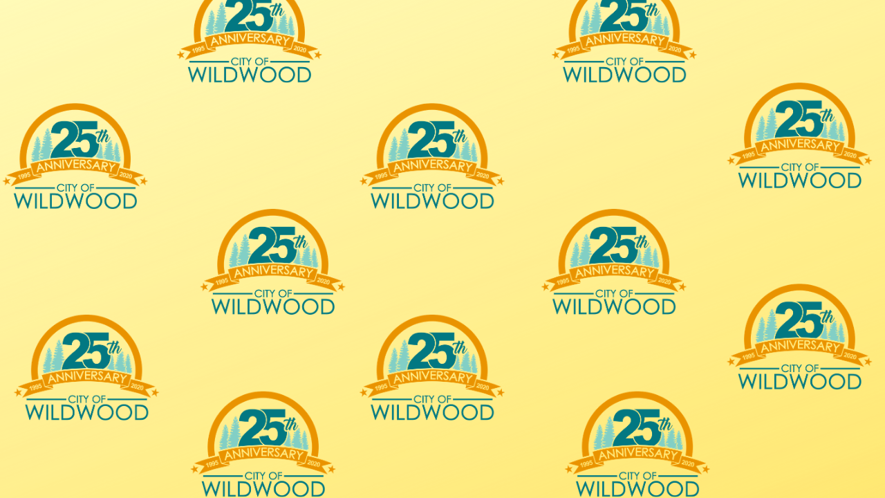 Zoom Background - 25th Anniversary - Yellow