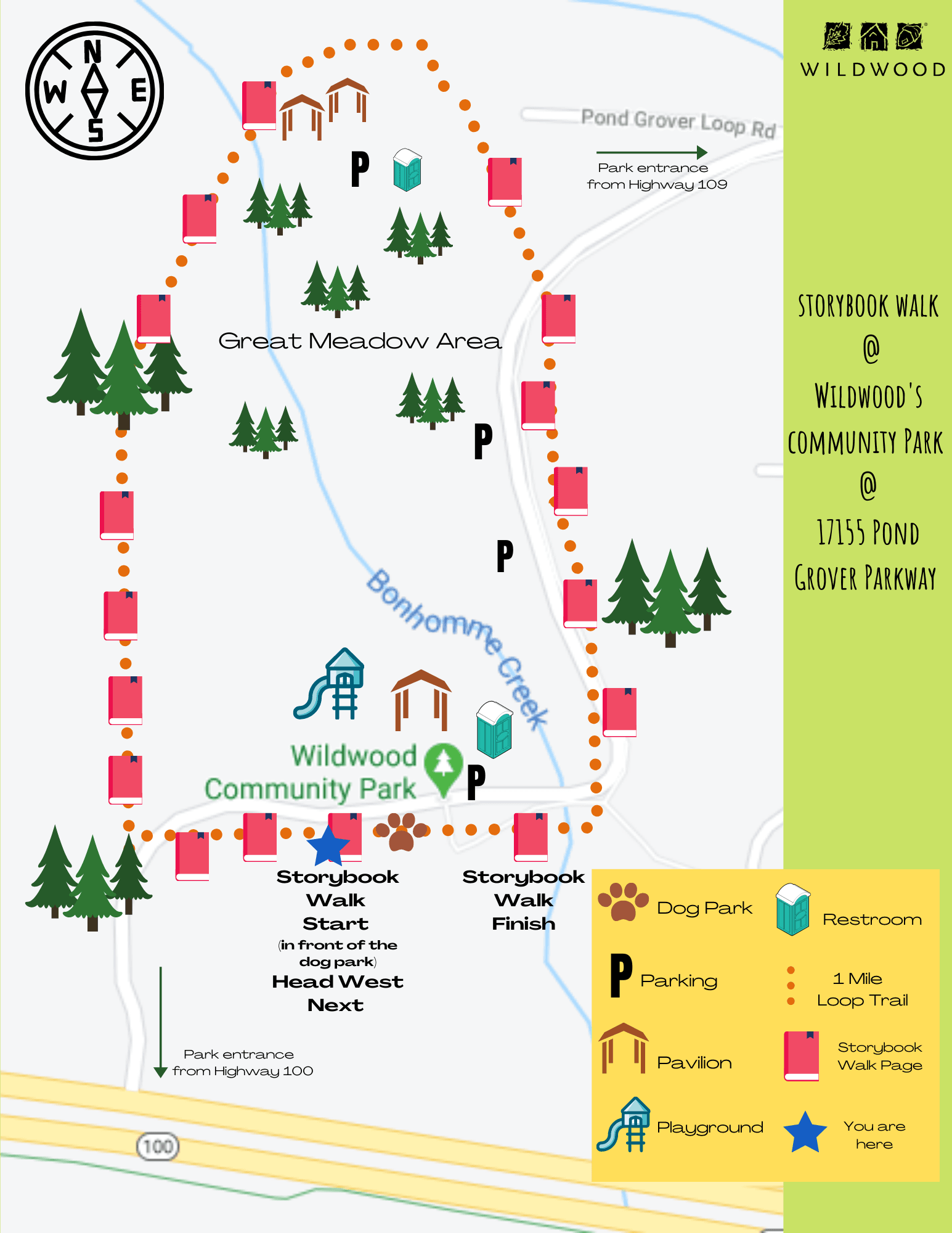 Story Book Walk Map