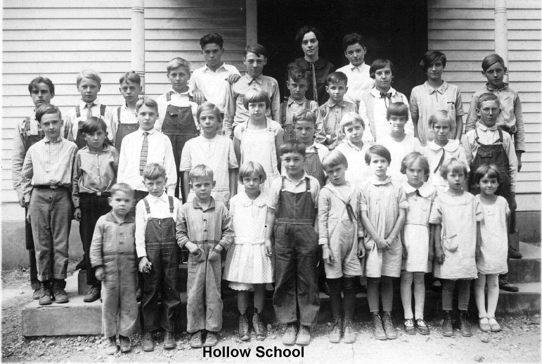 Photo of school children at Hollow School