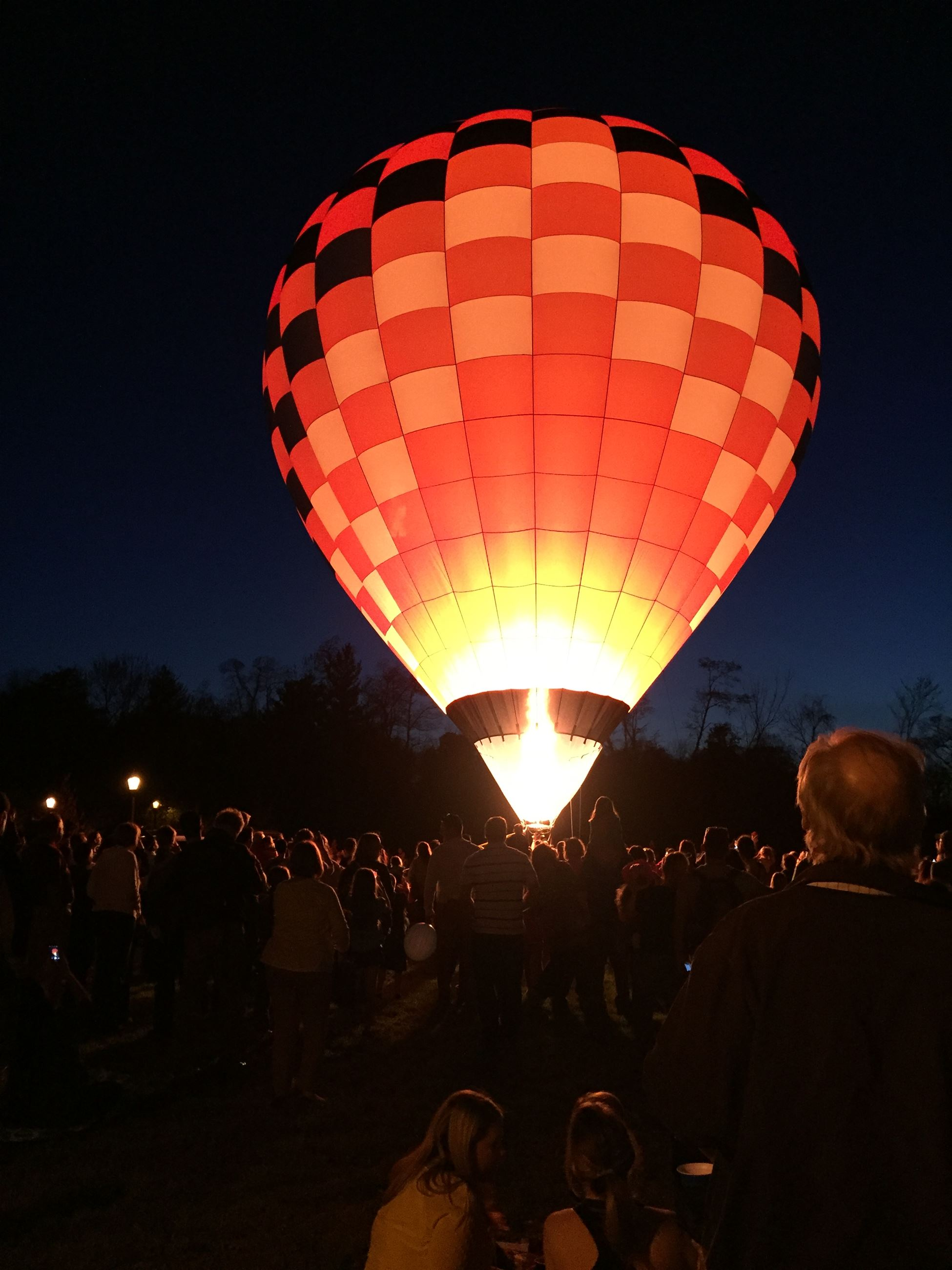 March 2017 Calendar Photo - Hot air balloon lit up at night